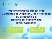 Designing the first EU-wide Green Hydrogen Guarantee of Origin (GO) - Sign up to the event