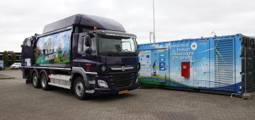 Hydrogen refuse truck from European REVIVE project starts operation in Breda using a Hydrogen Region 2.0 refuelling station