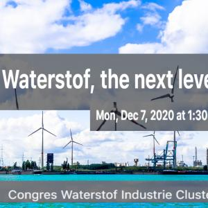 'Waterstof, the next level' - Online congres Waterstof Industrie Cluster