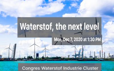 'Waterstof, the next level' - Congres Waterstof Industrie Cluster: Schrijf nu in!